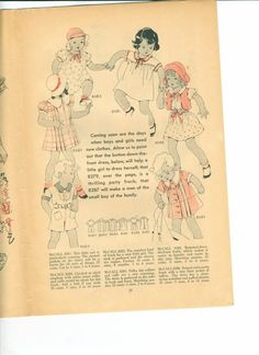 Rare Vintage McCalls Style News May 1935 by RomasMaison on Etsy