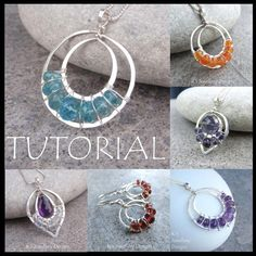 Wire Jewelry Tutorial - LACE UPS (Pendants and Earrings) - Step by Step Wire Wrapping Wirework Instructions - Instant Download by KSJewelleryDesigns on Etsy https://www.etsy.com/listing/72408139/wire-jewelry-tutorial-lace-ups-pendants