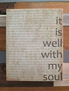 It Is Well 12x15 Canvas Antique by kisstheskyshop on Etsy