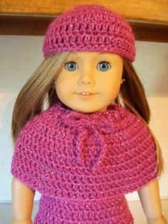 Free Eighteen Inch Doll Jazzy Winter Outfit Crochet Pattern Part One The Hat