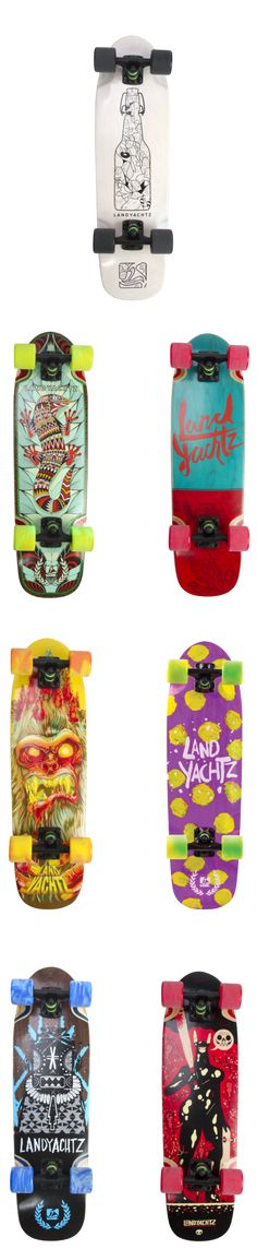 Landyachtz Dingy mini-cruiser longboards come in many different designs / graphics! Skateboard, Longboard Decks, Dinghy, Longboarding, Graphics, Mini, Skateboarding, Jon Boat, Longboards