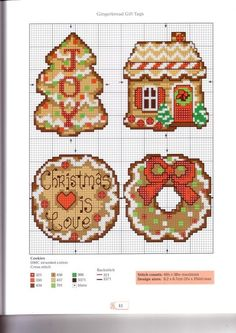 counted cross stitch kits for beginners Cross Stitch Christmas Ornaments, Xmas Cross Stitch, Counted Cross Stitch Kits, Christmas Cross, Cross Stitch Embroidery, Hand Embroidery, Embroidery Patterns, Loom Patterns, Christmas Charts