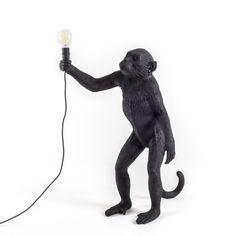 Lampe à poser, Singe, Monkey Standing, noir, Outdoor - Seletti