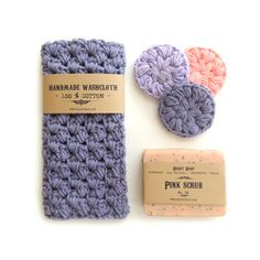 Mothers day gift set for mom soap and washcloth by RightSoap