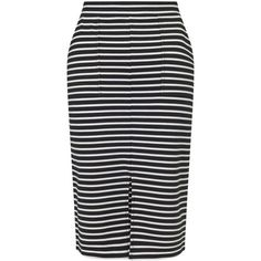 Miss Selfridge Bretton Stripe Pencil Skirt (€24) ❤ liked on Polyvore featuring skirts, assorted, stripe pencil skirt, pencil skirts, striped skirt, knee length pencil skirt and miss selfridge