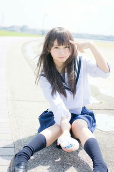 There is something inside your head, Grey Matter, Grey Matter. ( Edited and conceptualized by 'Jeannie School Girl Japan, Japan Girl, Japanese School Uniform, School Uniform Girls, Girls Uniforms, School Girl Uniforms, Japanese Model, Cute Japanese Girl, Cute Asian Girls