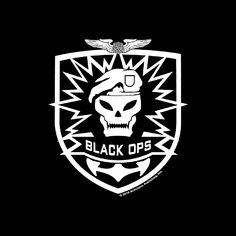 cod call of duty black ops emblem Camouflage Room, Black Ops 1, Laser Tag Party, Activision Blizzard, Call Of Duty Black, Kirigami, Decoration, Dragon Ball, Badge