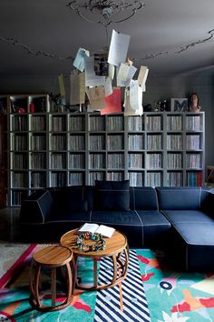 This eclectic apartment belongs to Italian chef Massimo Bottura. He is obviously an art collector and some of the most interesting interiors