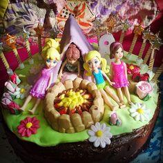 campsite slumber party cake