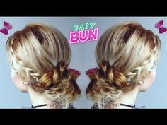 EASY HAIRSTYLE MESSY BUN UPDO WITH BRAIDS   Awesome Hairstyles