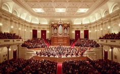 Amsterdam-The Concertgebouw, built in 1888, is famed for its near-perfect acoustics and its resident Royal Concertgebouw Orchestra