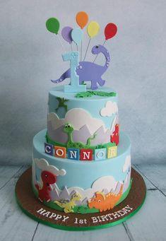 1st Birthday Cake Ideas, 1st Birthday Party, Dinosaur Theme, Party Ideas #Birthday #1stBirthday