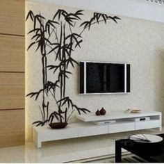 150x125cm Bamboo Nature Vinyl Wall Paper Decal Art Sticker Q111. $35.88 via Etsy. & Bamboo Wall Decal Bamboo Tree Wall Decal 100inch Tall Set of 8 ...
