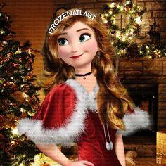 Miss Anna at Christmas Disney Princess Movies, Disney Princess Fashion, New Disney Princesses, Disney Princess Drawings, Disney Princess Pictures, Princess Cartoon, Modern Princess, Princess Anna, Princesse Disney Swag