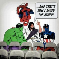 bible superhero crafts | Jesus is my Superhero! #marvel #humor #avengers #funny #film #movie #movies #superhero #action #everyday #costume #meme #illustration #images #imagines #imagine #cool #interesting #celebrity #celebrities #people #kids #pictureoftheday #photooftheday  #world #blackpanther #sci-fi #captainamerica #tonystark #ironman #spiderman #buckybarnes #blackwidow #comic #books #books #DC #actors #actress #costume #media #news #geek #infinitywar