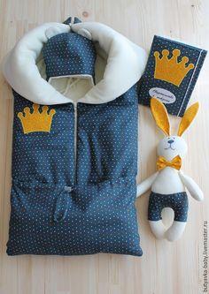 """Для новорожденных, ручной работы. Ярмарка Мастеров - ручная работа. Купить Комплект для новорожденного""""Маленький принц"""". Handmade. Темно-серый"""