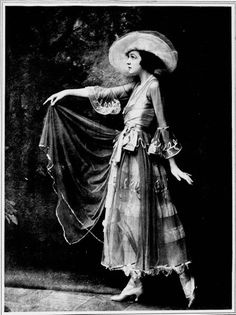 Irene Castle wears the latest fashion on April 2, 1915 in the Chicago Tribune.