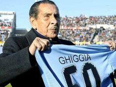 """Alcides Ghiggia es el autor del gol con el que Uruguay venció a Brasil en 1950, y es el único superviviente del mítico """"Maracanazo""""."""