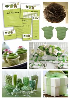 this is for a baby shower, but what a great layout for a st. pats themed party!