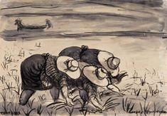 Autotono (+ Mondine a Roncoferraro, 1952; 2 works) by Tono Zancanaro
