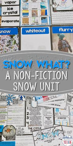 Are your students dreaming of a snow day? Bring your snow study to life with this engaging snow unit all about snowflakes, blizzards, flurries, and more! Students will learn about the cycle of snow, where it snows, and so much more. Stunning, real-life images bring this unit to life!  So perfect for Kindergarten and some First Grade classes!