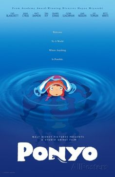 Ponyo in Water Movie Poster Photo at AllPosters.com