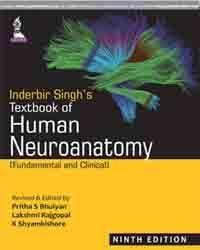 Inderbir Singh's Textbook of Human Neuroanatomy (Fundamental and Clinical); Author: Pritha S Bhuiyan MBBS MS (Anatomy) PGDME Lakshmi Rajgopal MBBS MS (General Surgery) DNB (Anatomy) MNAMS (Anatomy) K Shyamkishore MBBS MS (Anatomy)
