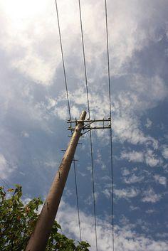 electric pole in Taketomi Island, Okinawa