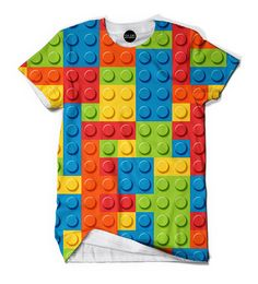 Bring back childhood memories with this lego all over print t-shirt. As a kid we all played with legos we built little humans, house, trains, or anything we could dream off. Don't let those memories b