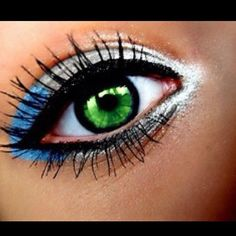 Silver blue eye make up