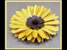 How to make Paper Flowers Sunflower / Helianthus annuus(Flower # 49) - YouTube