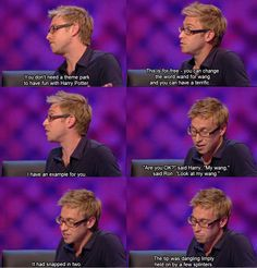 I will watch a Harry Potter film when on TV literally just to do this after hearing it on The Russell Howard & Jon Richardson Show.