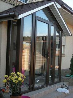 steel and glass porch enclosure Porch Uk, Porch Doors, Porch Designs Uk, Modern Front Porches, Sas Entree, Bay Window Living Room, Porch Extension, Glass Porch, Porch Enclosures