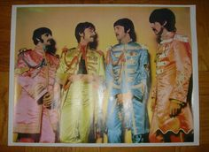 Sergeant Peppers Lonely Hearts Club Band The Beatles 1967 Poster 23 x 17 Rare