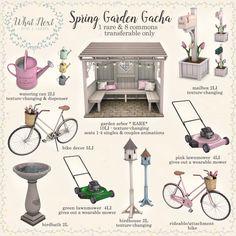 house sims 4 Spring Garden Gacha coming soon for the Arcade
