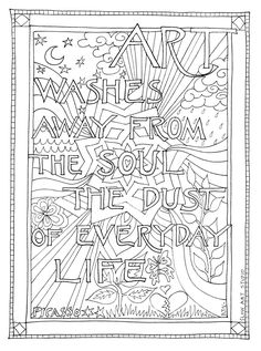 Coloring Page Single For With Picasso Art