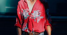 Button up with asian print very in the mood for love style