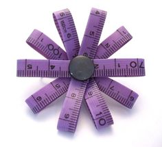 Purple Tape Measure Measure-Up Brooch