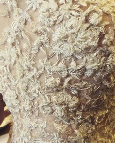 Bespoke bridal gown with hand appliqued lace to sparkle on the beach - from Rasha Taylor Couture!