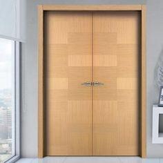 Sanrafael Lisa Flush Double Fire Door - Model K41 Oak Decape Prefinished. #oakdoors #oakdoorpair #internaloakdoor