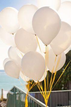 San Clemente Wedding by Kim Le Photography + 8 Kinds of Smiles Seaside Wedding, Our Wedding, Dream Wedding, Wedding Bells, Wedding Stuff, Balloon Ribbon, Red Balloon, Balloon Bouquet, Colourful Balloons