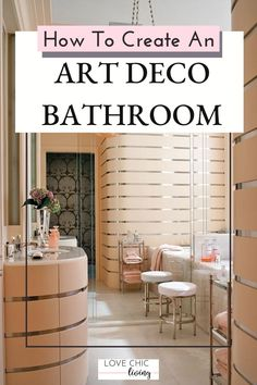 My best tips for creating a contemporary art deco bathroom using art deco lighting, mirrors, art deco bathroom vanity dressers & more. Bring a touch of Art Deco to your home with these stunning design ideas! #lovechicliving Art Deco Bathroom, Art Deco Lighting, Family Bathroom, Dressers, Mirrors, Home Accessories, Contemporary Art, I Am Awesome, Bathrooms