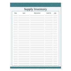 Supply Inventory Fillable Business Planner by OrganizeLife Planner Pages, Printable Planner, Bill Planner, Free Printables, Small Business Organization, Candle Labels, Business Planner, Craft Business, Business Cards