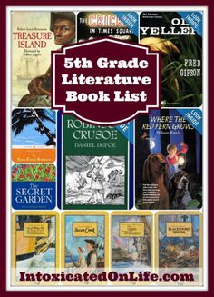 5th Grade Literature book list!