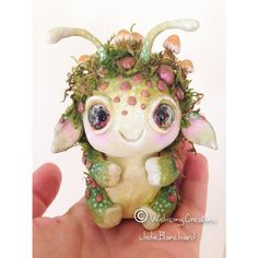 My little mushroom guardian is finished! Hope you like him! #forestdweller…