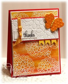 Happy bright yellow and orange colors on this card.  Verve Stamps: April Diva Dare Day 4
