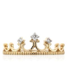 Diamond Crown Ring 14K :: Ben Bridge Jeweler