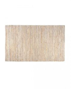 Madras Leather Hemp Rug Natural, 90 x 150 cm