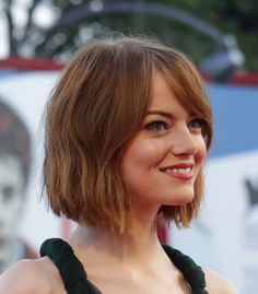 Emma Stone Rocking A Short Lob Hair Pinterest Hair Short