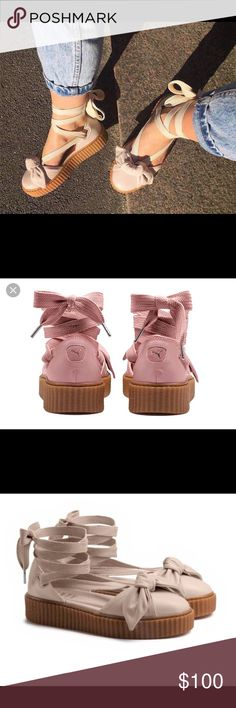 Fenty by Rihanna Bow Creeper Sandals New original only size 8.5 Available Rihanna Shoes Sandals